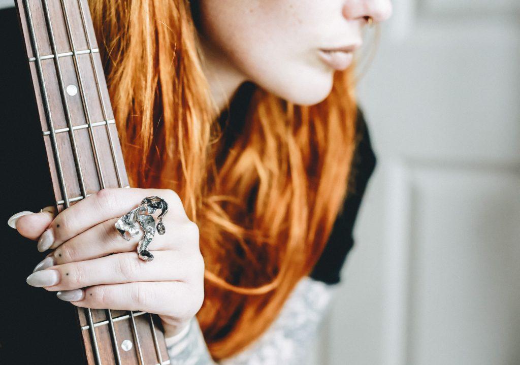 Guitar Distortion Ring #12 by Poppy Porter