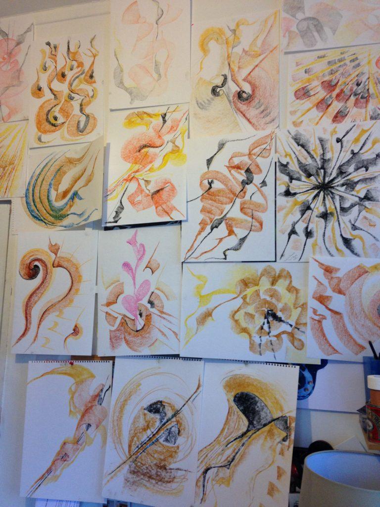 Drawing wall: Simon Gallup
