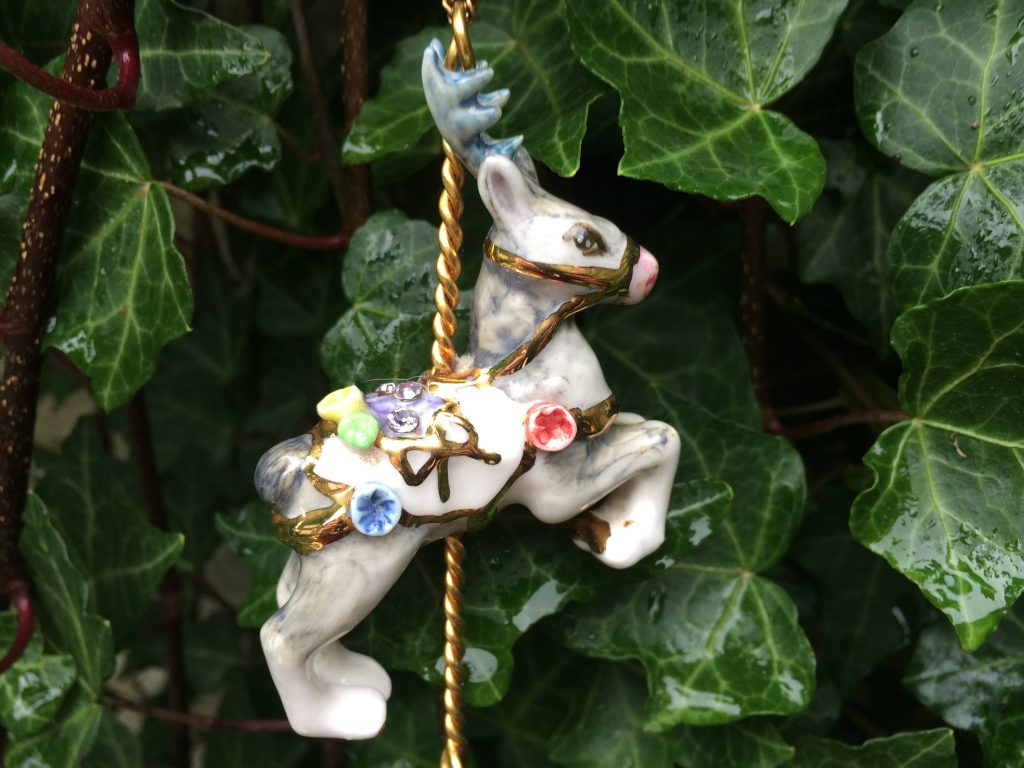 Reindeer Necklace by Hop Skip and Flutter
