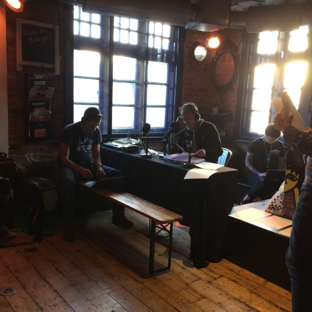 Steve LAmacq broadcasts live from the Boileroom, Guildford for BBC 6 Music.