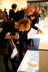 What's in the drawers? Visitors at MIMA Jewellery Gallery opening