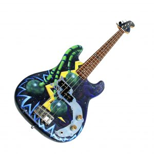 Poppy Porter: custom painted Space Bass