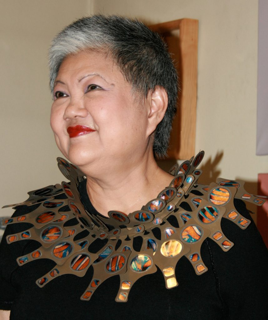 """One of my earliest pieces """"Podium Neck Wreath Gold"""" is on its way from the collection of Lee Tuan to the Museum of Fine Arts in Boston, USA."""